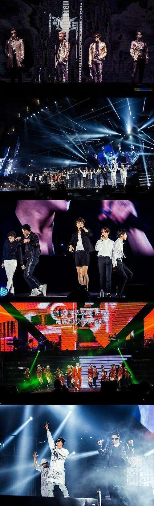 """韩国YG家族在北京开唱 """"鸟叔""""中文歌引观众合唱"""