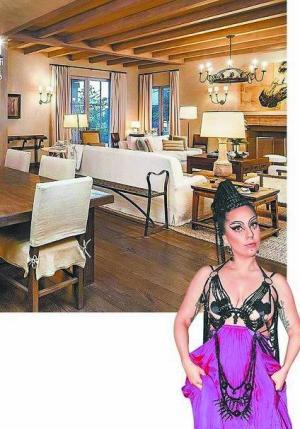 Lady Gaga豪掷1亿买豪宅 装修风格素雅(图)