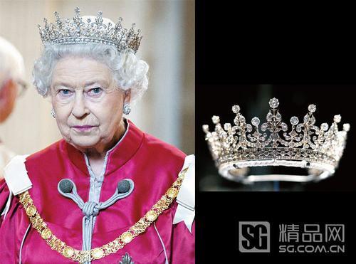 大不列颠及爱尔兰之女王冠-伊丽莎白女王传奇王冠 为加冕镶3000颗宝图片