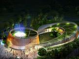 青岛世园会园艺文化中心主体顺利封顶