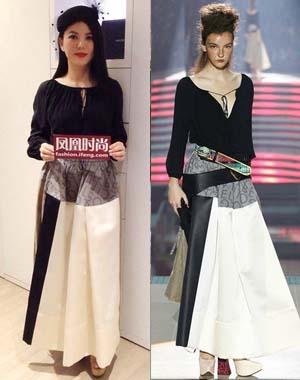 李湘 in VivienneWestwood