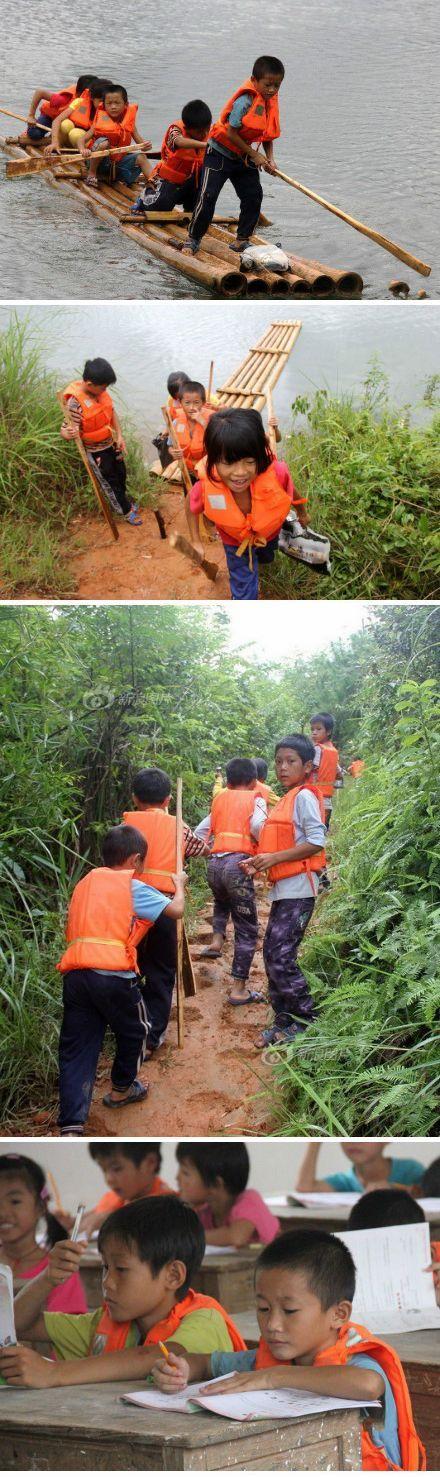 [引用]广西:30余名小学生撑竹筏上学 最小者年仅4岁! - yfdgad - yfdgad的博客