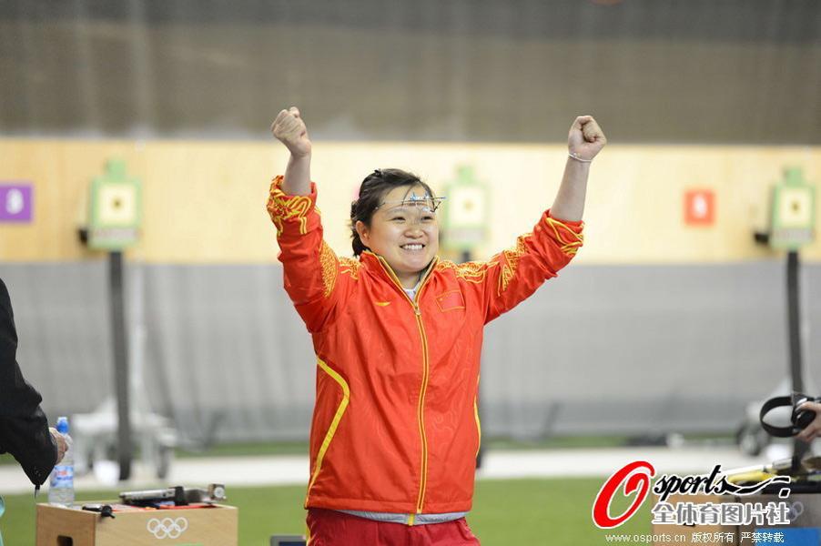 2012年7月29日,2012年伦敦奥运会射击女子10米气手枪决赛,郭文珺、苏玉玲出战。最后一枪逆转 郭文珺获得金牌卫冕。