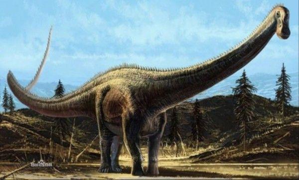 长脖恐龙手绘图