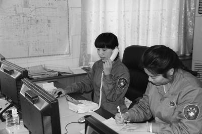 记者来到安阳市120急救指挥中心调度室