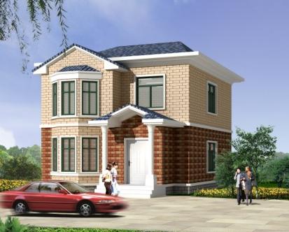 自建房10万以下两层_8米x12米农村自建房设计图