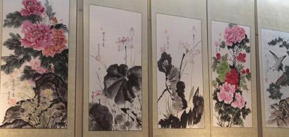 武汉举办风展红旗如画——纪念毛泽东诞辰120周年名家画展