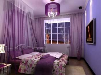 粉紫色欧式卧室