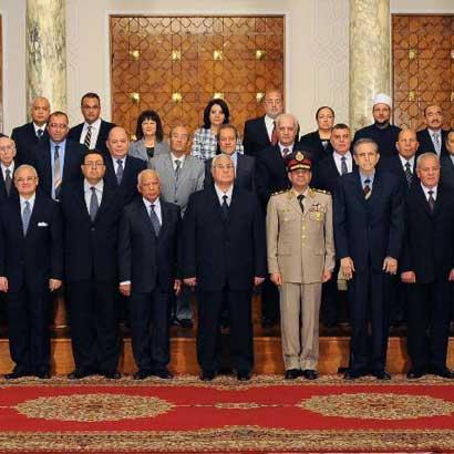 埃及过渡政府内阁宣誓就职