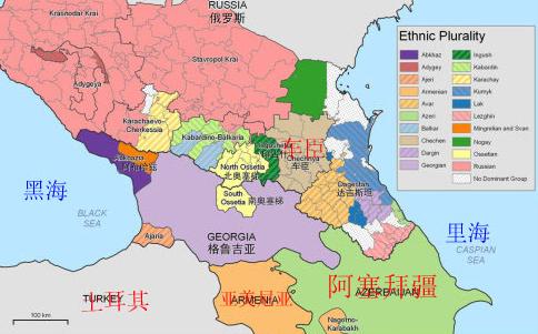 俄罗斯与美国地图