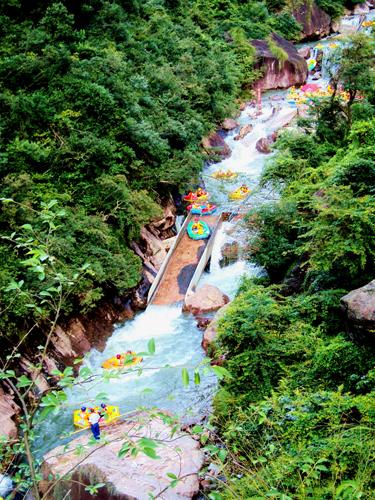2015大觉山峡谷漂流:开漂啦