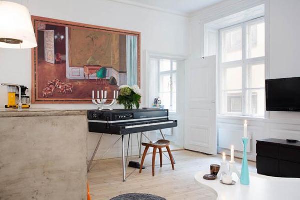 瑞典70坪公寓挑战小空间轻工业风设计