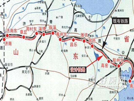 济青高铁明年3月开建 1小时可达途径九个站点图片