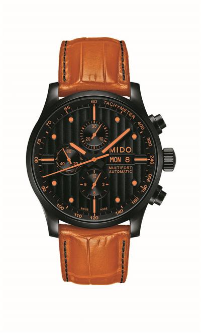 黑色 日内瓦/316L不锈钢表壳经黑色PVD处理,直径44mm的黑色表盘以纵向...