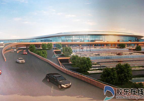 烟台机场市场营销部经理丁建瞾透露,正在建设中的烟台蓬莱国高清图片