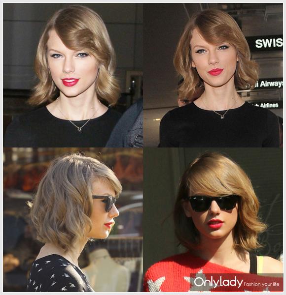 Taylor Swift 虽然还未以新发型公开亮相,但早已被八卦拍到改发型的泰勒剪掉一头长发,改以清新亮丽的俏皮短发示人。仍旧带有弧度的卷发效果制造蓬松立体的丰盈感,让这个俏丽的波波头更加活泼生动。
