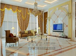 安华大理石瓷砖客厅装修效果图