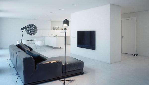 少即是多 设计给极简主义者的白色公寓