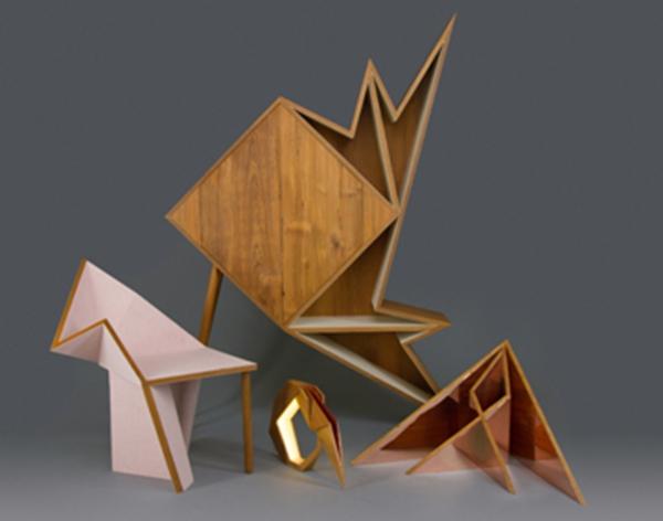 阿联酋设计师设计的汉语家具系列几何东方有中国_创意万年长字体设计图片