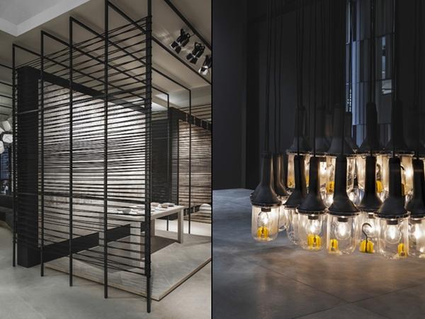 意大利设计师Paolo Cesaretti设计的博洛尼亚Kale陶瓷展厅