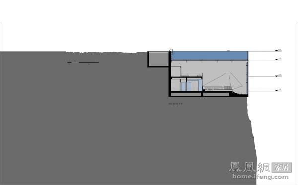 犹如镶嵌在岩石中的宝石 概念性悬崖豪宅设计