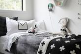 孩子的房间并不意味要混杂着成千上万种颜色在实现。通过柔和的颜色组合,孩子的房间也可以很时尚。  将孩子的房间设计成北欧风格, 黑、白、灰是北欧风格一般的色调。除此之外,你还可以添加其他颜色让你的小宝宝喜欢。北欧元素混合其他各种颜色,看起会更酷哦。  白色木板让房间感觉更为舒适,图案装饰会让人更加愉悦。  下面这些例子会让你有所启发,把孩子的空间变得更加时尚吧! (编译:刘嘉炜)