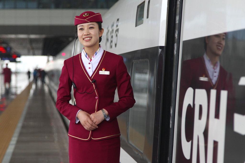 高铁餐服服装图片 上海高铁乘务员服装 上海高铁乘 ...