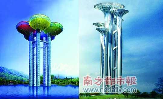 北京新地标奥林匹克公园瞭望塔被指抄袭深圳建筑师