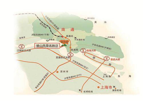 狼山交通地图