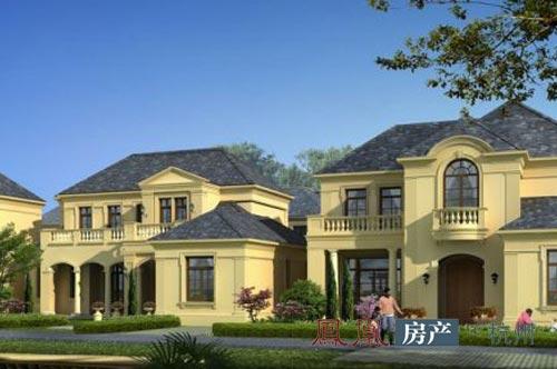二期法式独栋别墅,地上面积约450平米,地下面积约230-300平米,主力图片