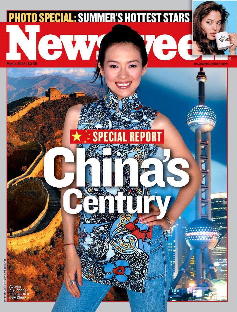 下图 上图 原图 自动播放 2005年5月9日,《新闻周刊》封面人物,中国