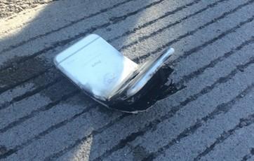 iPhone6被撞弯起火 美国一男子腿部被灼伤