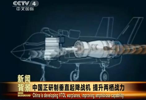 中国正研发垂直起降战机将提升两栖作战能力