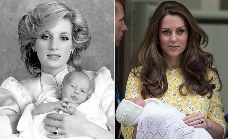 凯特二胎生公主 圆戴安娜生女遗愿