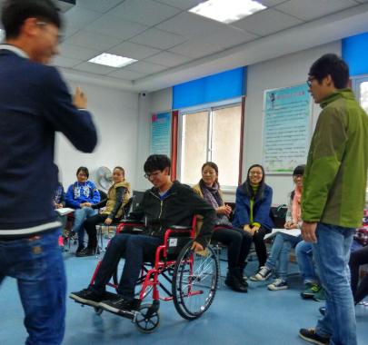 同行杯轮椅马拉松赛志愿者培训成功举办