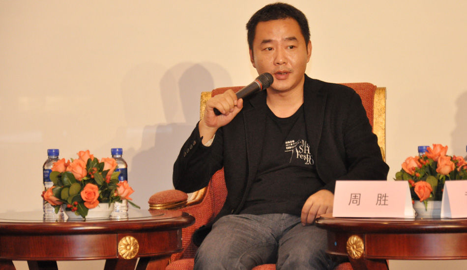 2013中国时尚产业圆桌论坛现场,艺之卉时尚集团董事长周胜发表观点:技术永远只是为你的创造力服务的一个手段。