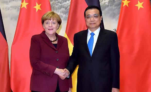 李克强同德国总理默克尔举行  会谈