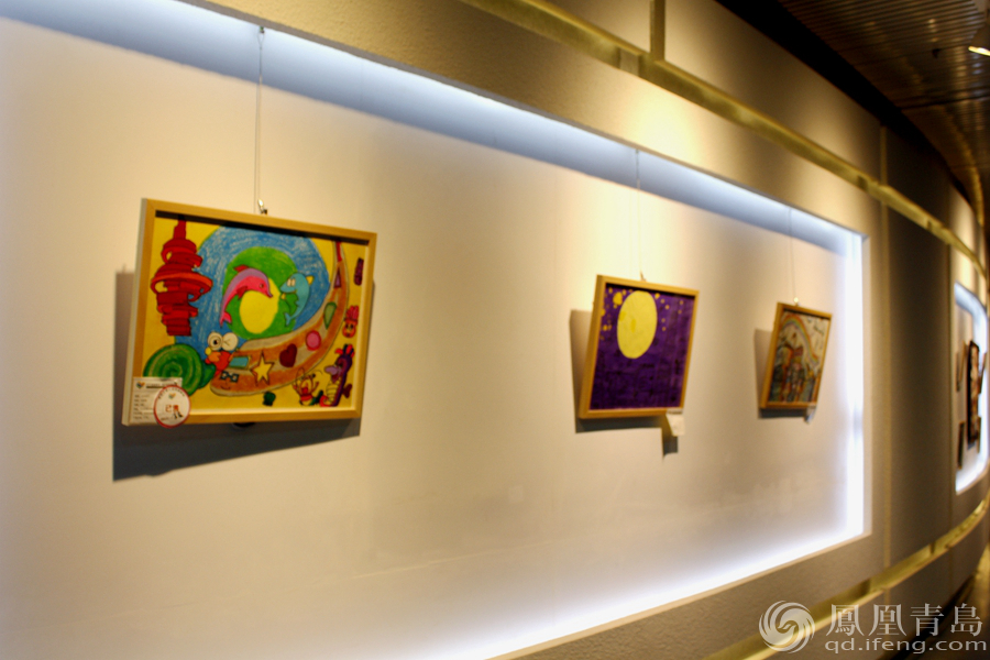 首届儿童公益创意美术画展在青岛规划展览馆开幕