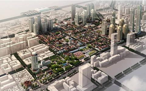 香港融汇地产复建老商埠项目鸟瞰图