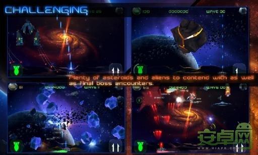 小行星碎片冲击波 纵版弹幕射击游戏
