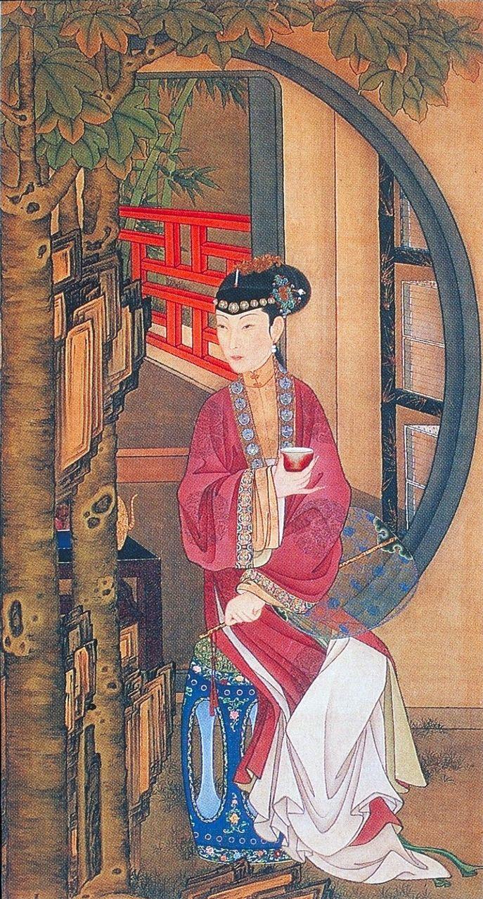 """故宫馆藏""""十二美人图"""":绝色美人透隐秘宫闱情趣(图)"""