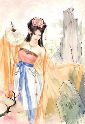 古代女生手绘图冰冷