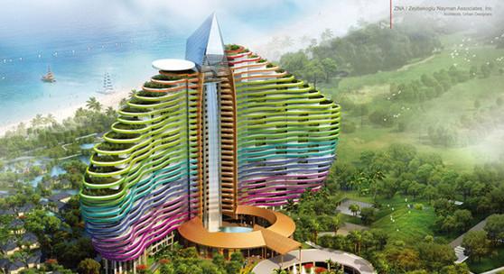 新闻资讯 凤观海南  三亚海棠湾红树林七星度假酒店(效果图) 高度:126