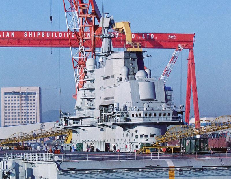 中国航母平台完成四次试航后进行小幅改装工作(组图)