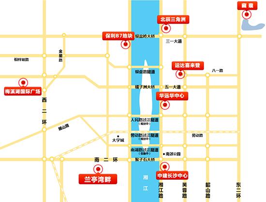长沙楼市地图