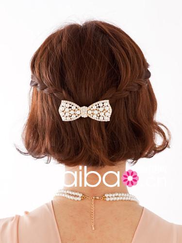5款适合出席活动的淑女风短发编发发型