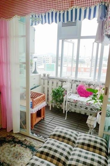 斜顶阁楼窗帘装修效果图