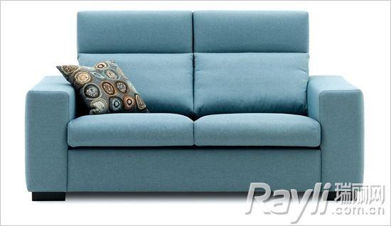 boconcept北欧风情蓝绿色双人沙发