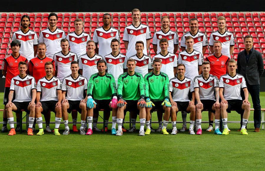 德国队世界杯定妆照图片