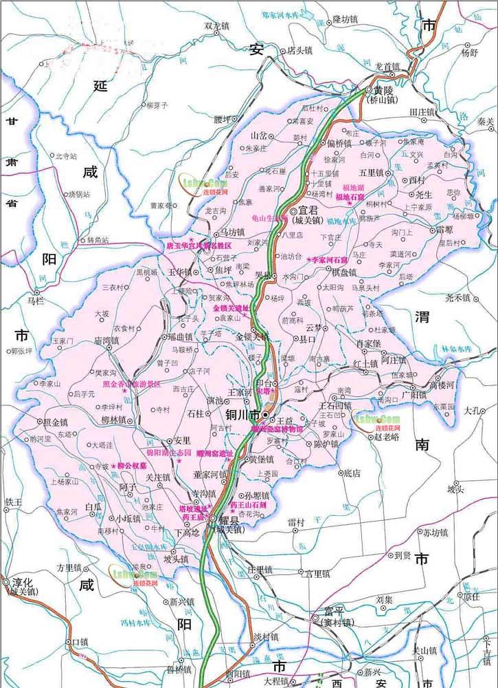 铜川市旅游地图_陕西频道